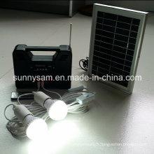 Lumière de système de maison de puissance solaire pour l'éclairage à la maison et l'urgence