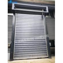 Portas de persiana automática de alta velocidade em espiral de alumínio