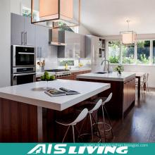 Mobília UV do armário de cozinha da mistura da melamina do estilo de Europa (AIS-K338)