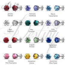 Destino joyas cristales de macarrón de Swarovski pendientes