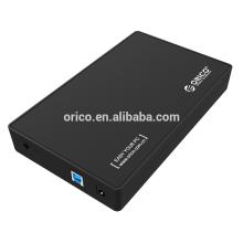 ORICO hot selling 3,5 polegadas USB 3.0 para SATA Estojo de armazenamento externo Disco rígido Hdd Capacidade do invólucro 4TB