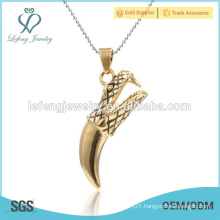 High quality special gift jewelry gold plated stainless steel necklace pendant for male