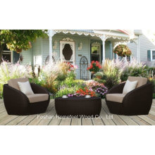 3 Pieces Outdoor Rattan Garden Coffee Table Patio Set (OT24)