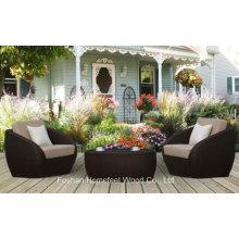 3 Pieces Outdoor Rattan Garden Coffee Table Patio Set (OT24)