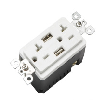 BAS20-2USB UL listed standard outlet 20A 125V gfci electrical socket