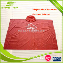 Convenient to carry custom printing waterproof military raincoat one time for emergency