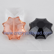 Large crystal flower shaped glass beads