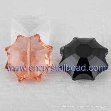 Крупный кристалл цветок форму стеклянных бусин