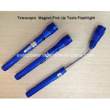 3LED Telescopic Aluminum Magnet Pick up Tools LED Flashlight (FA-2025)