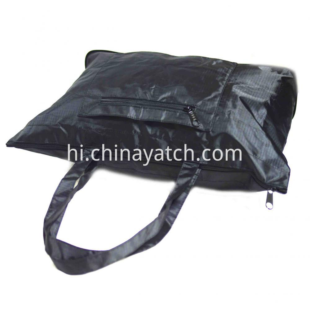 Foldable Easy Shopping Bag with 3 Zippers