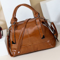 Fashion Leather drawstring bag cheap lady tote handbag