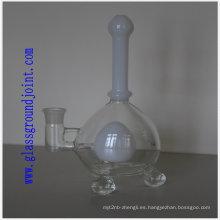 Tubo de vidrio con junta esmerilada para cachimba