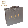 Low Cost Customized Made Printed High Quality Matte Black Luxury Paper Shopping Bag With Custom Logo Printing