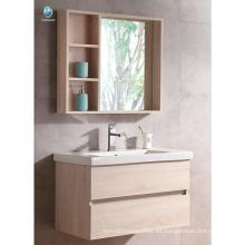 VT-085 Mueble de baño pequeño mueble con fregadero Mueble de baño con hogar de madera Muebles de baño con color sólido