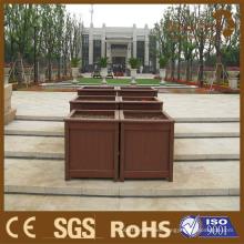 Las macetas de madera de WPC, pueden ser modificadas para requisitos particulares