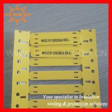 Marcador de cabo amarelo de identificação de fio de poliolefina