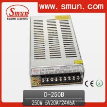 D-250b 5V 24V Fuente de alimentación de conmutación de salida dual