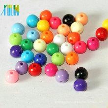 gemas de moda jóias espaçadores de acrílico grânulos redondos