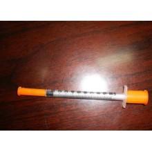Jeringa de insulina estéril