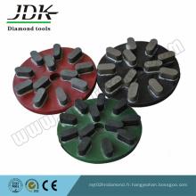 Plaque de meulage métallique Plaque de bras radiale pour polir les dalles de granit