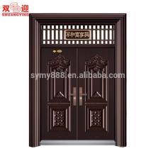 Wohnung Stahl Sicherheit zwei Blatt Doppel Außen Haupteingangstür