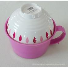 Mélamine Ramen Bowl avec bol à soupe / mélamine Articles ménagers / vaisselle (QQ15203S)