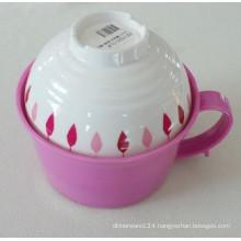 Melamine Ramen Bowl with Soup Bowl/Melamine Houseware/Dinnerware (QQ15203S)