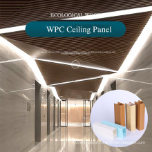 China factory Waterproof 40x25mm WPC Ceiling for indoor use