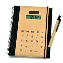 Kraft Spiral Notebook with Calculator