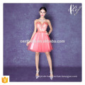 Sommer-Art-loses beiläufiges Spitze-Kleid-neues Entwurfs-reizvolles Rosa weg vom Schulter-süßes Herz-Minikleid
