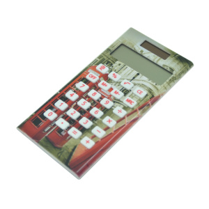 10 Digits Dual Power Full Print Pocket Calculator