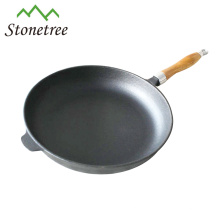 Cast Iron Frying Pan With Wooden Handle, Cast Iron Skillet With Removable Handle