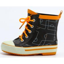 Children's Short Shoelace Rubber Rain Boots