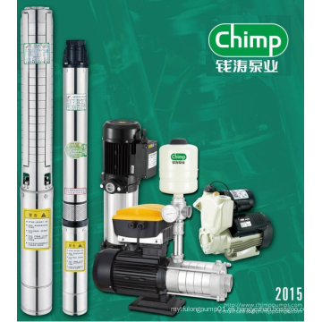 Bomba sumergible de pozo profundo serie Chimp Sk para suministro de agua