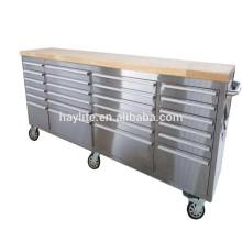 Banco de trabalho de aço inoxidável com gavetas para venda