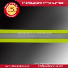 Tecido resistente ao fogo reflexivo de fluorescente amarela de alta visibilidade