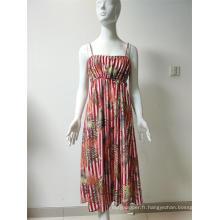 robe imprimée en viscose / nylon