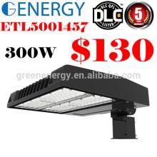 ETL DLC CE LED 125lm / w 5 años de garantía Luz de la caja de zapatos 300w iluminación de estacionamiento se vende en Canadá