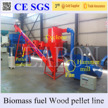 Golden Supplier Leabon 450-Mx 1t Per Hour Automatic Wood Pellet Plant From Crusher