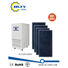 off Grid Solar Power System with 2000 Watt Solar Panels