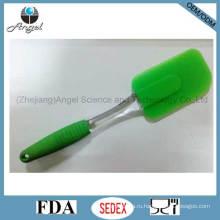Оптовая силиконовая кухонная посуда силиконовые приготовления шпатель с ручкой PS Ss05 (L)