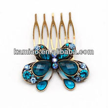 2014 girls crystal beautiful comb curved hair clips accessory jewelry hair