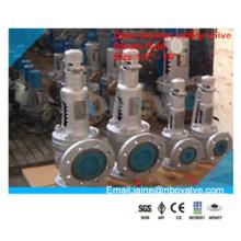Válvula de segurança de pressão de castelo aberto Ss304 de aço inoxidável