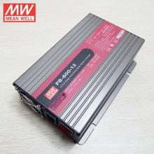 Carregador de bateria Original MEANWELL 600W para banco de baterias de chumbo-ácido 12V e bateria li-ion PB-600-12