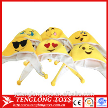 yangzhou factory cheap emoji plush hat, plush emoji hat