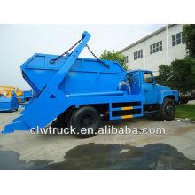 Dongfeng 6 m3 caminhão de lixo com recipiente no chão