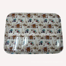 "100% Melamine Dinnerware -""France Bear""Series Tray/100% Melamine Tableware (FB9012)"