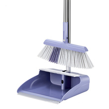 wholesale household cleaning tool 3 In1 magic folding sweeping tooth stick plastic long handle broom and dustpan set