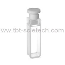 T-BOTA ES Quartz Glass 10mm Path Length Economic Q-14 Standard cell with telflon stopper