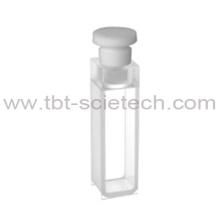 Pilha econômica do comprimento Q-14 do caminho do vidro de quartzo de T-BOTA ES 10mm com bujão do telflon